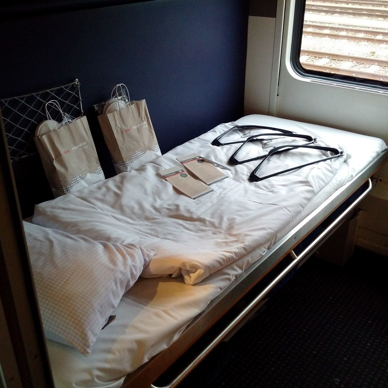 Bed on Nightjet sleeping car