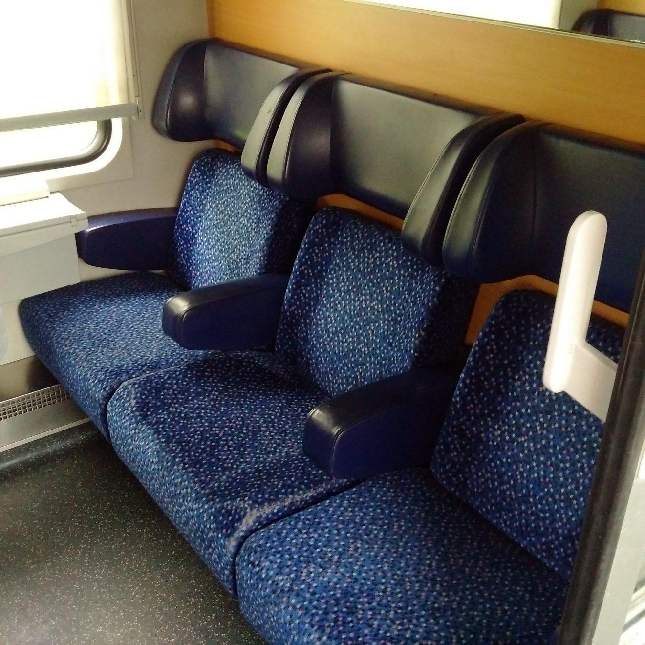 Seated Car on European Night Train