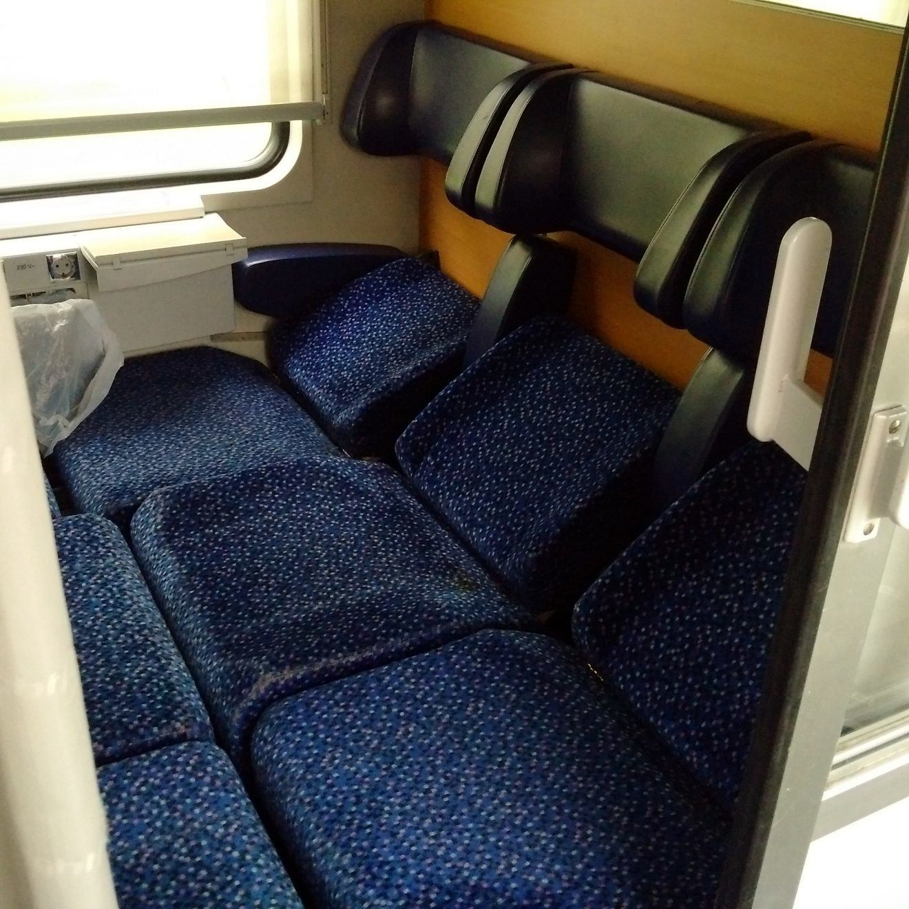 Seated Car on European Night train