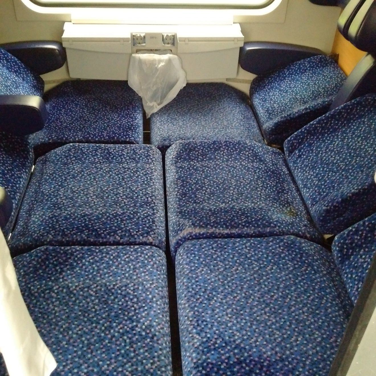Seat Car on European Night Train