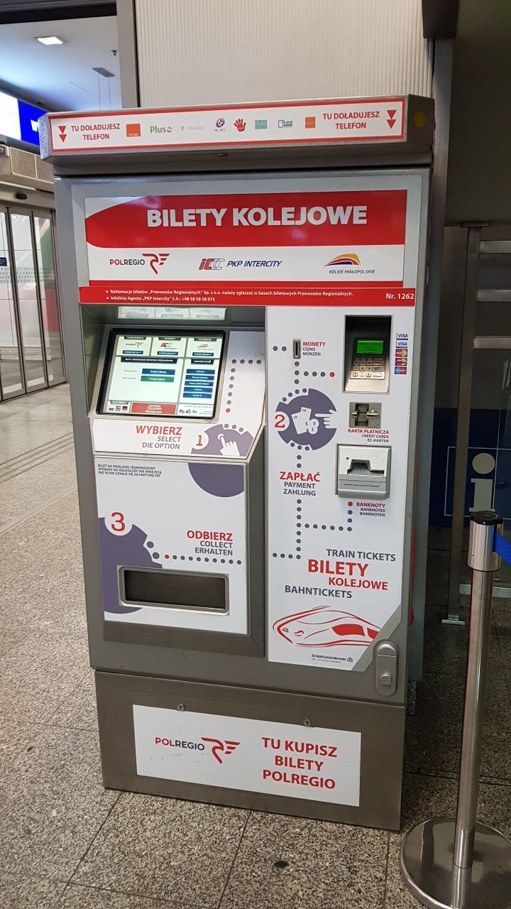 Krakow Glowny Ticket Machine