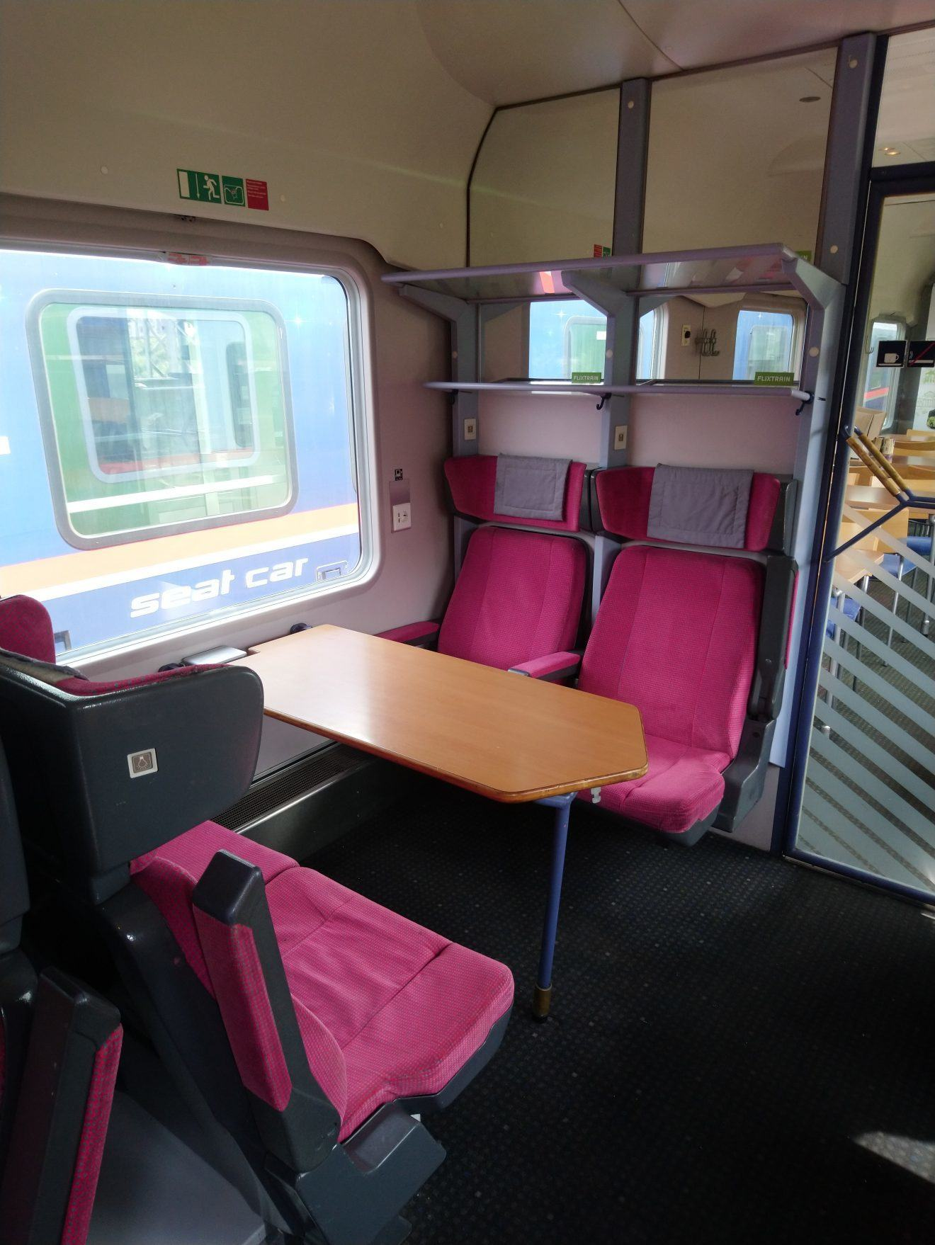 Flixtrain Bistro car