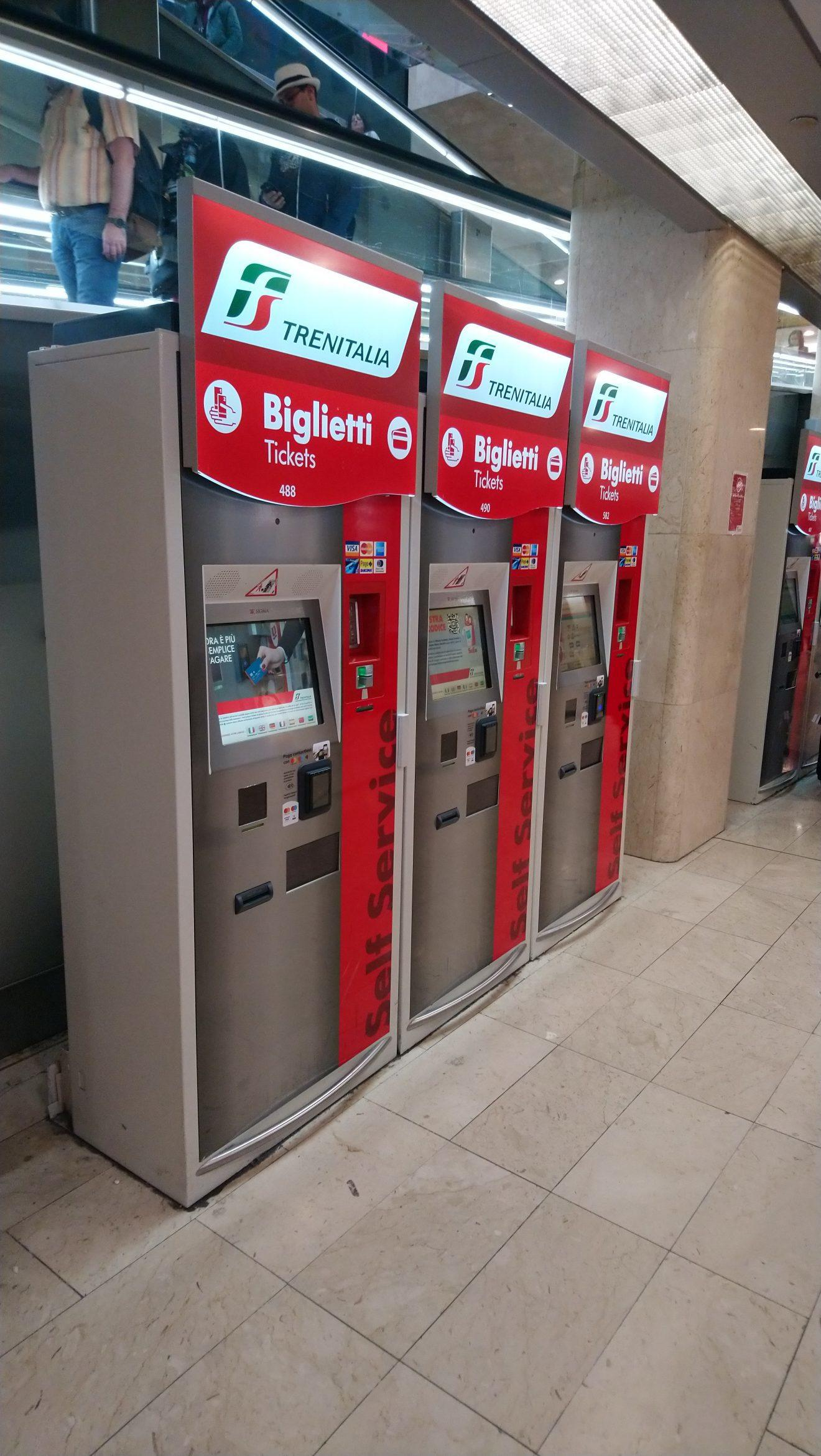 Italian ticket machines