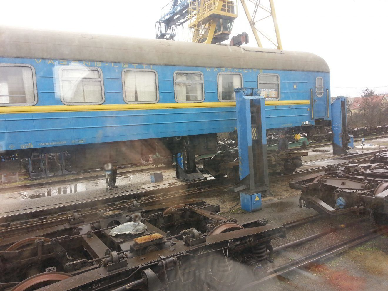 Bogie change at Ukrainian border