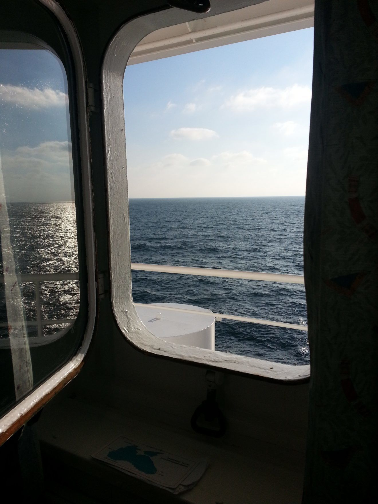 Open window on Ukraine-Georgia ferry