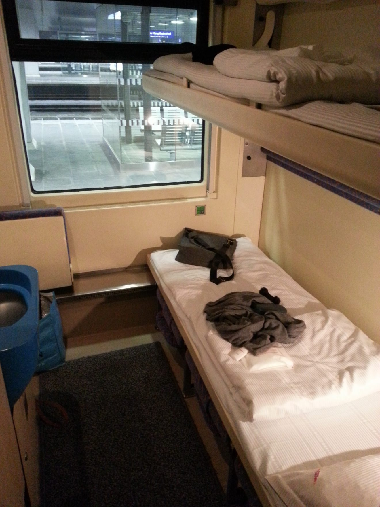 Sleeping on a night train