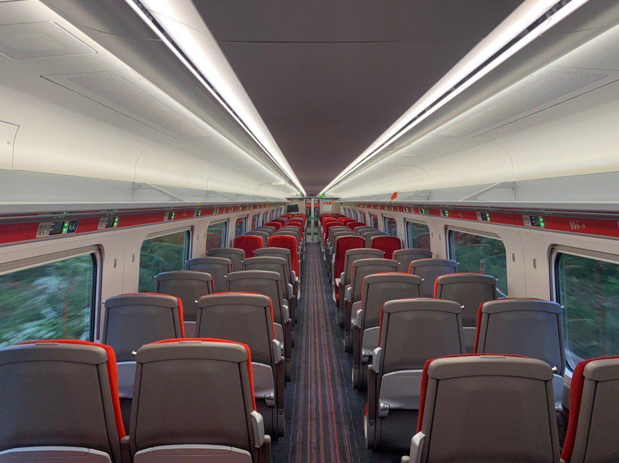 Empty LNER train